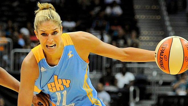 Chicago Sky guard Elena Delle Donne is the first rookie to lead the All-Star voting and will be replaced on the Eastern Conference roster by Atlanta's Erika de Souza.