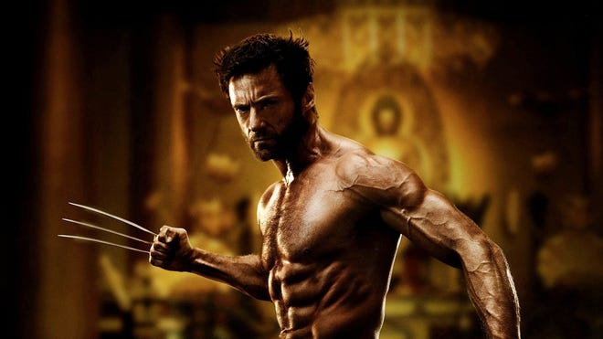 """Hugh Jackman in character for the motion picture """"The Wolverine."""""""