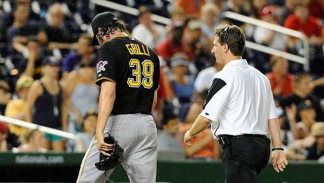 Jason Grilli has been diagnosed with a flexor strain in his right arm.