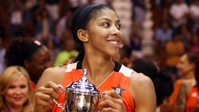 Candace Parker won MVP with an All-Star Game record 23 points.