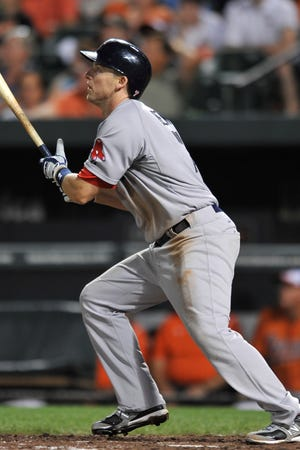 Stephen Drew watches his two- run homer leave the yard during the sixth inning.