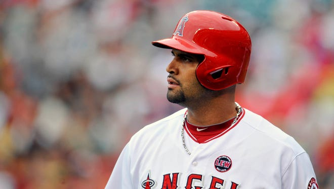 Los Angeles Angels first baseman Albert Pujols could is the rest of the season with a partially torn plantar fascia in his left foot.