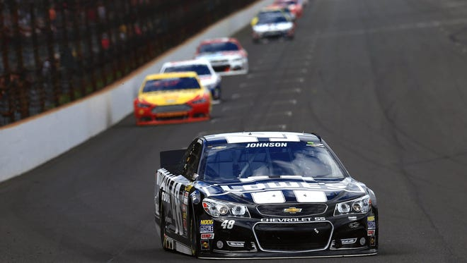 The single-file racing that made for a less-than-exciting Brickyard 400.