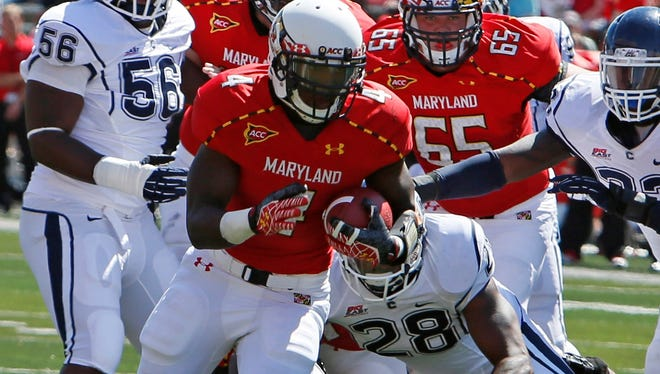 Wes Brown, running for a touchdown last season vs. Connecticut, was the second-leading rusher for Maryland in 2012.