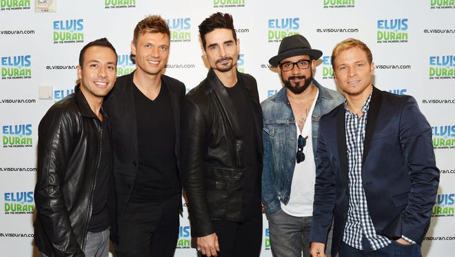 Howie Dorough, left, Nick Carter, Kevin Richardson, A. J. McLean and Brian Littrell are marking their 20th anniversary as the Backstreet Boys with a new album.