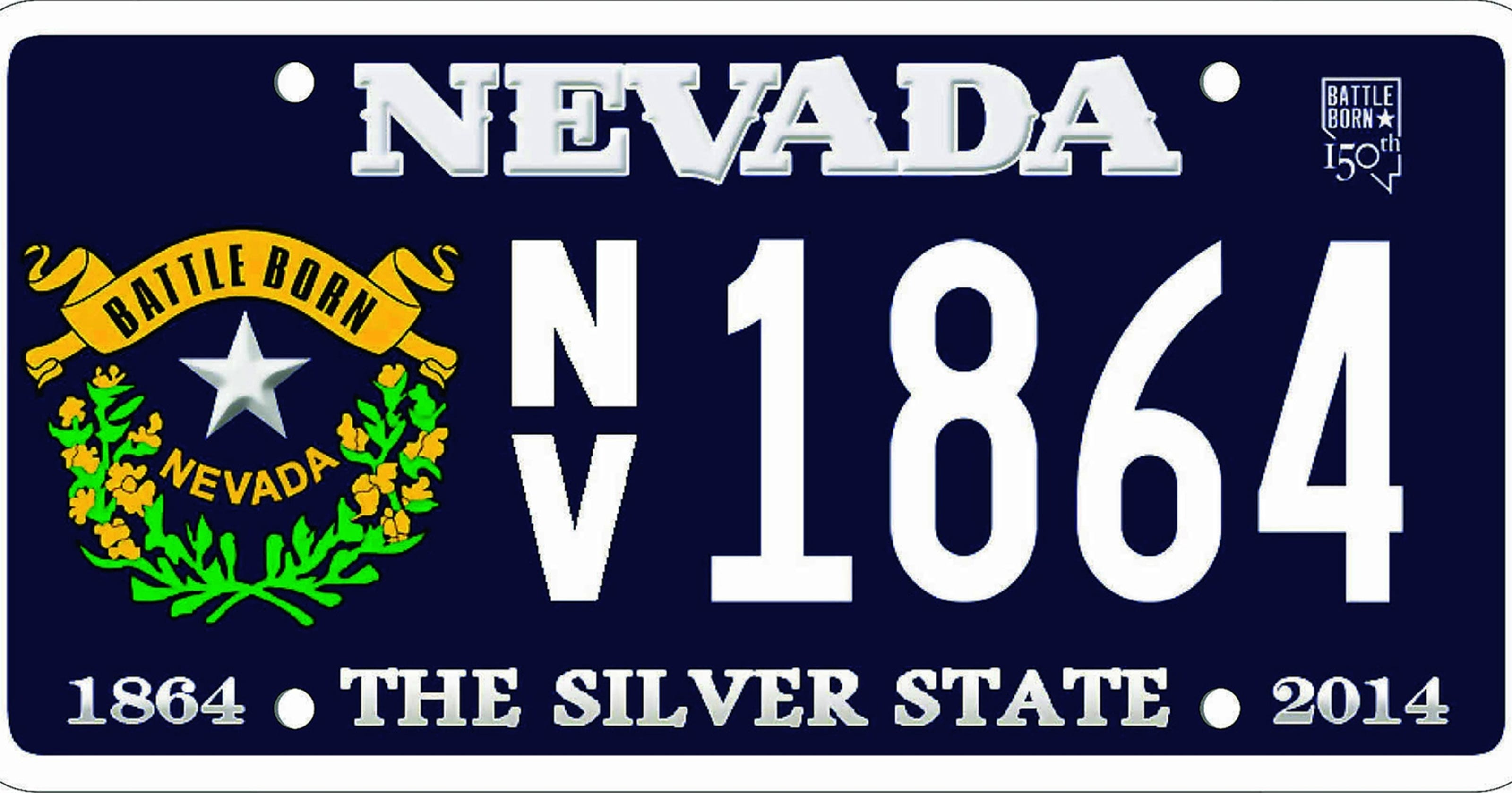 Nev Statehood License Plates Made In Oregon