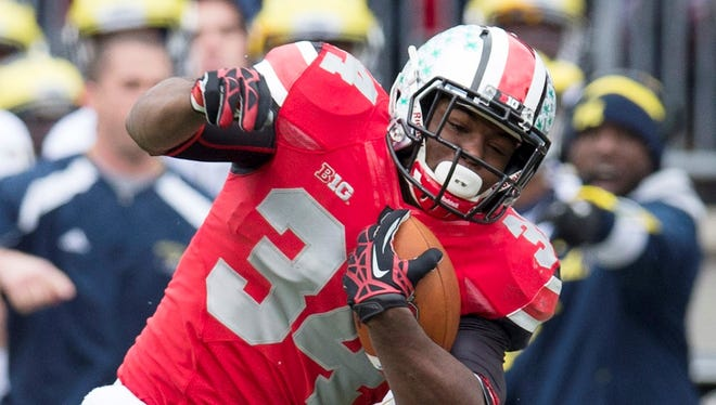 Carlos Hyde was second on Ohio State in rushing and racked up a team-best 17 touchdowns last season as the Buckeyes finished undefeated.