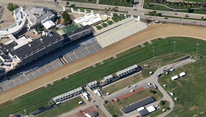 An artist's rendering of the  grandstand terrace project at Churchill Downs