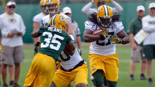 The Packers have big hopes for rookie RB Eddie Lacy (27).
