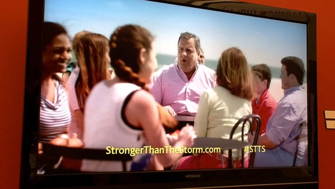 "New Jersey Gov. Chris Christie and his family appear in a TV spot for the state's ""Stronger Than The Storm"" campaign. MWW proposed putting Christie in the ads; the other bidder did not. MWW won the contract."