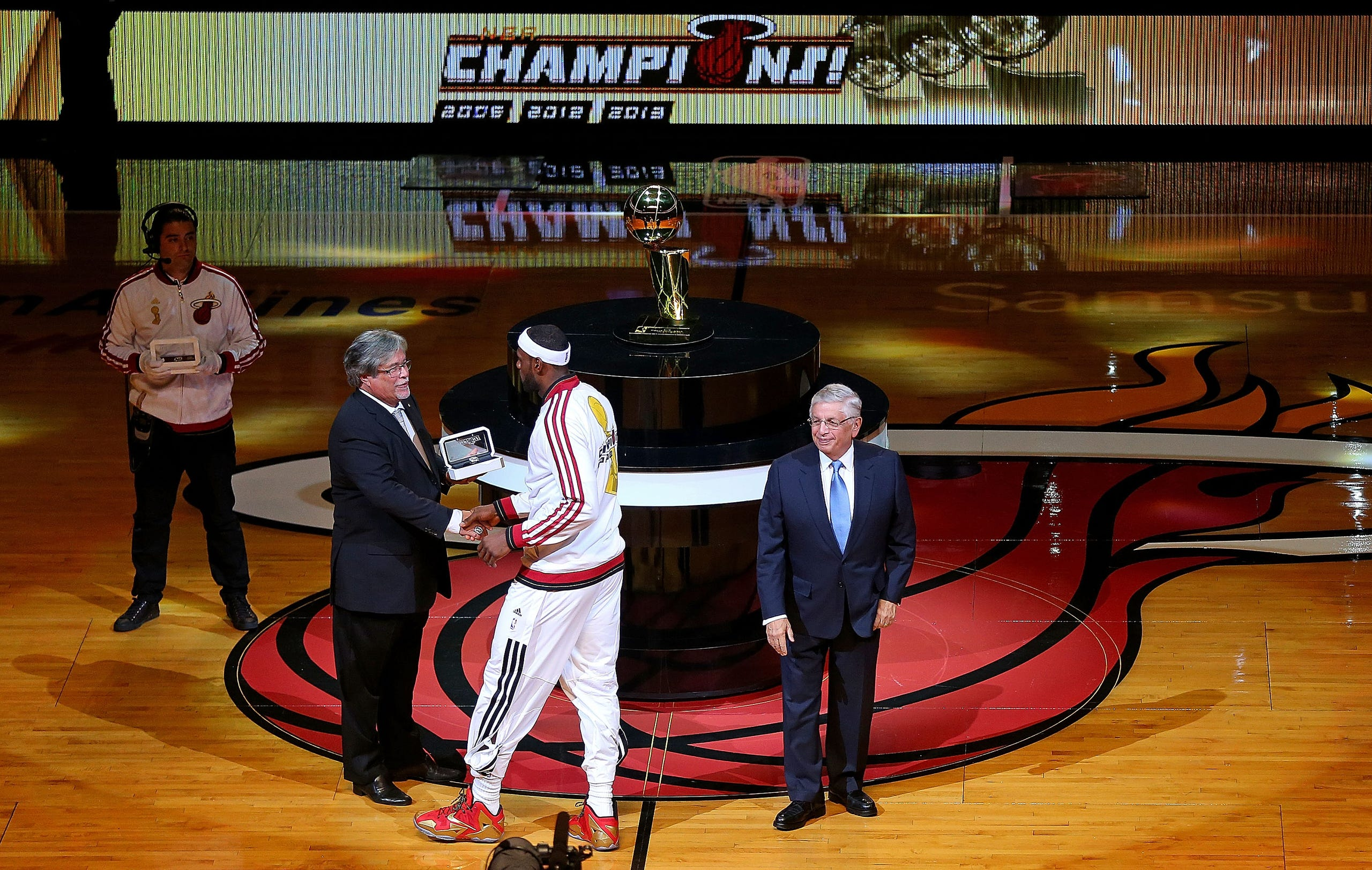 Miami Heat 2013 Championship Ring And Banner Ceremony