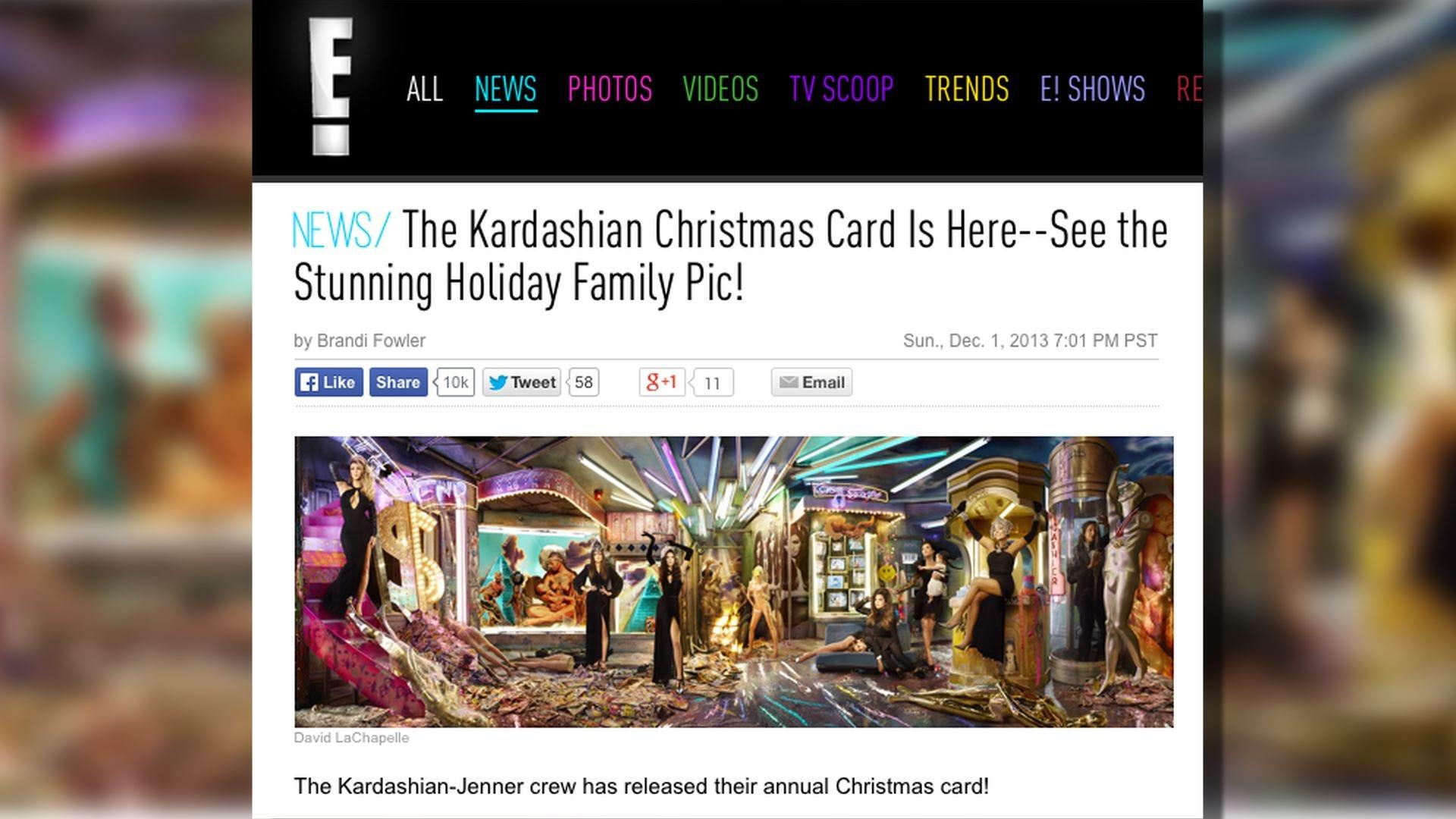Kardashians Unveil 2013 Family Christmas Card