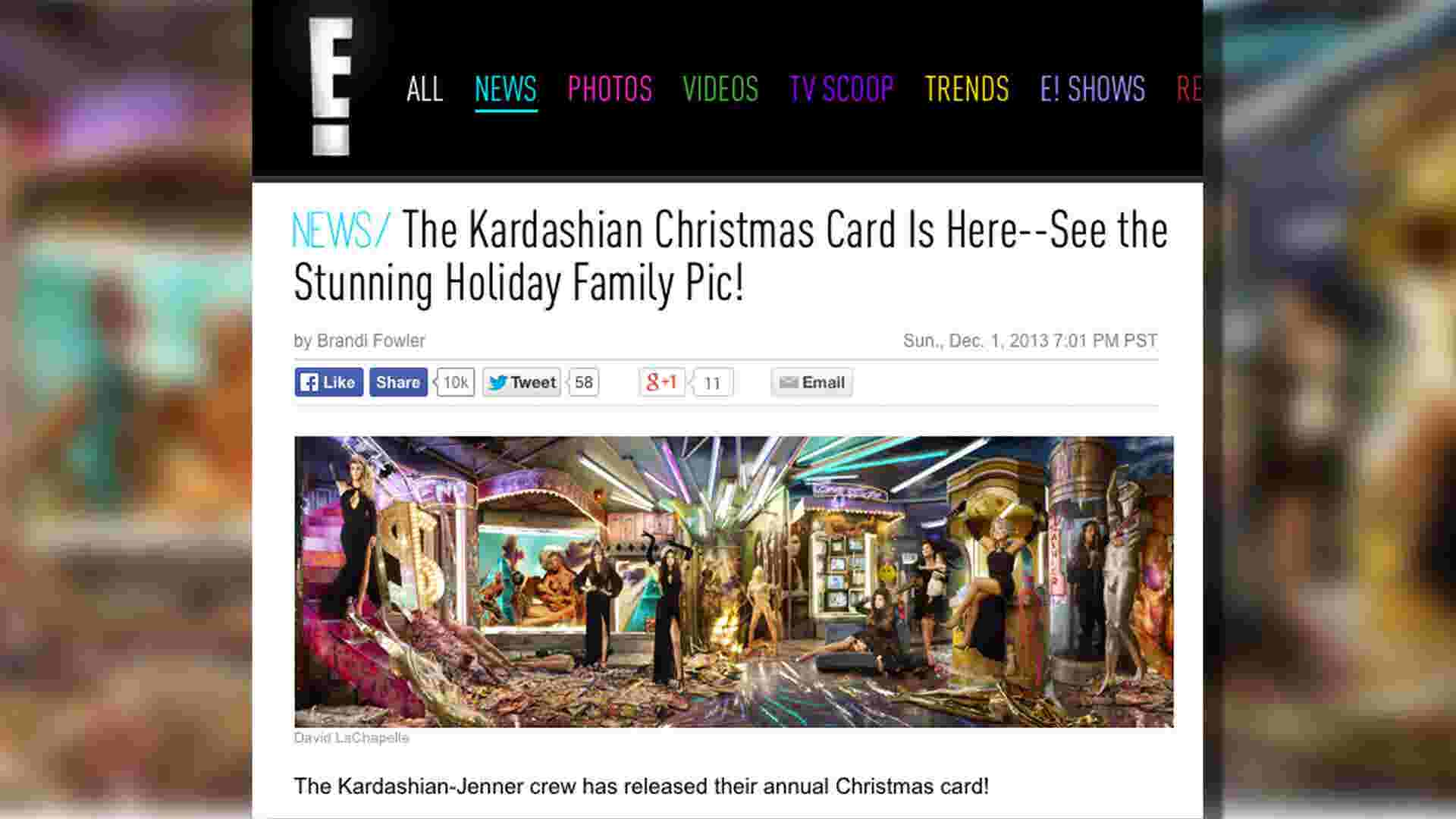 Kardashians unveil 2013 family Christmas card