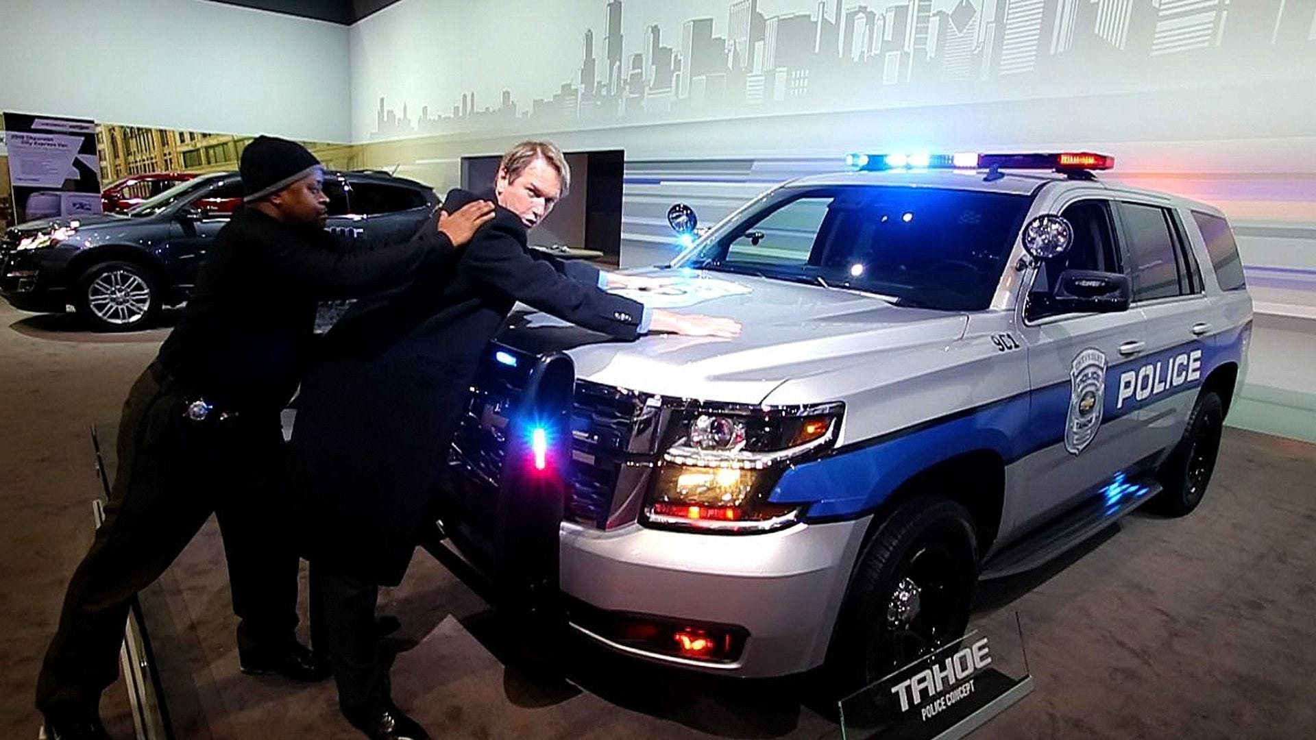 Chicago auto show chevy police tahoe for Chicago motors used police cars