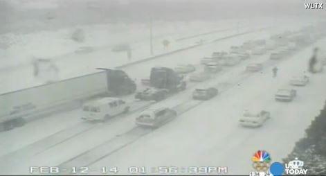 Ice storm turns Atlanta into ghost town, jams Carolinas