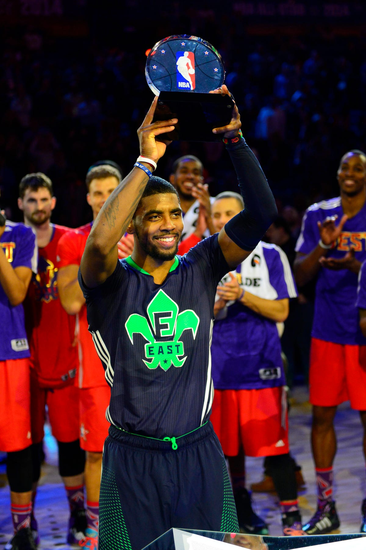 new photos d1318 aa665 MVP Kyrie Irving, East win 2014 NBA All-Star Game