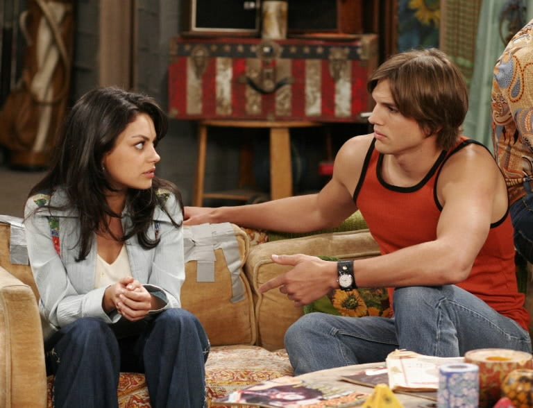 On 'That '70s Show,' which premiered in 1998, Kutcher played Michael Kelso and Kunis had the role of Jackie Burkhart.