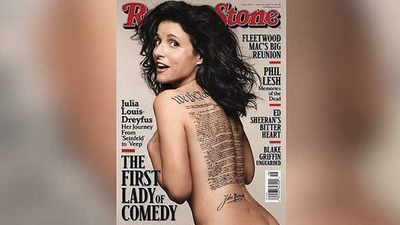 Julia Louis Dreyfus Ever Been Nude glaring mistake on julia louis-dreyfus' naked cover in rolling stone