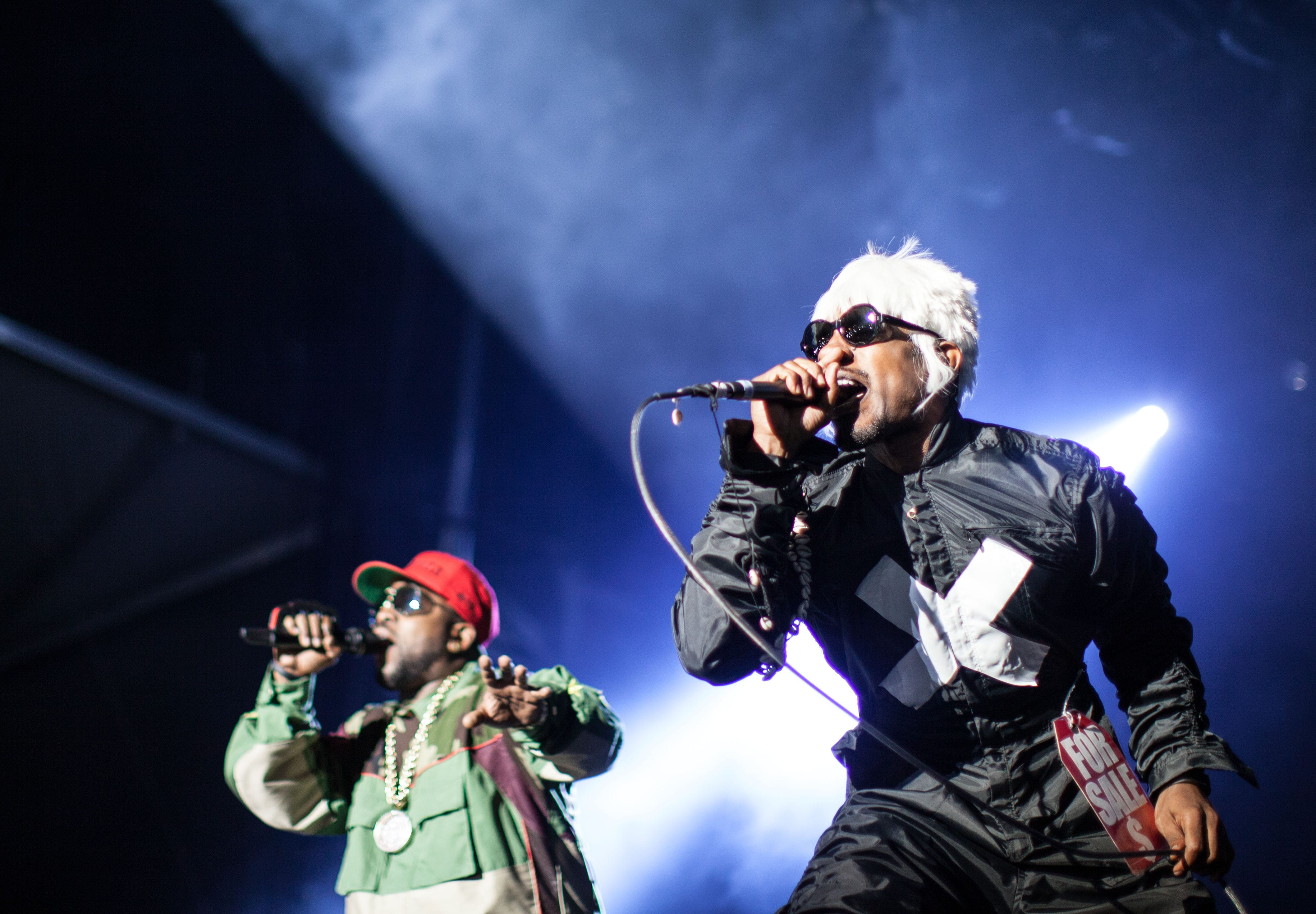 Big Boi, left, and Andre 3000 of Outkast perform at Counterpoint  2014 on April 27 in Rome, Ga.