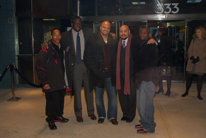Left to right: Kharey Wise, Yusef Salaam, Kevin Richardson, Raymond Santana and Antron McCray on Nov. 15, 2012.