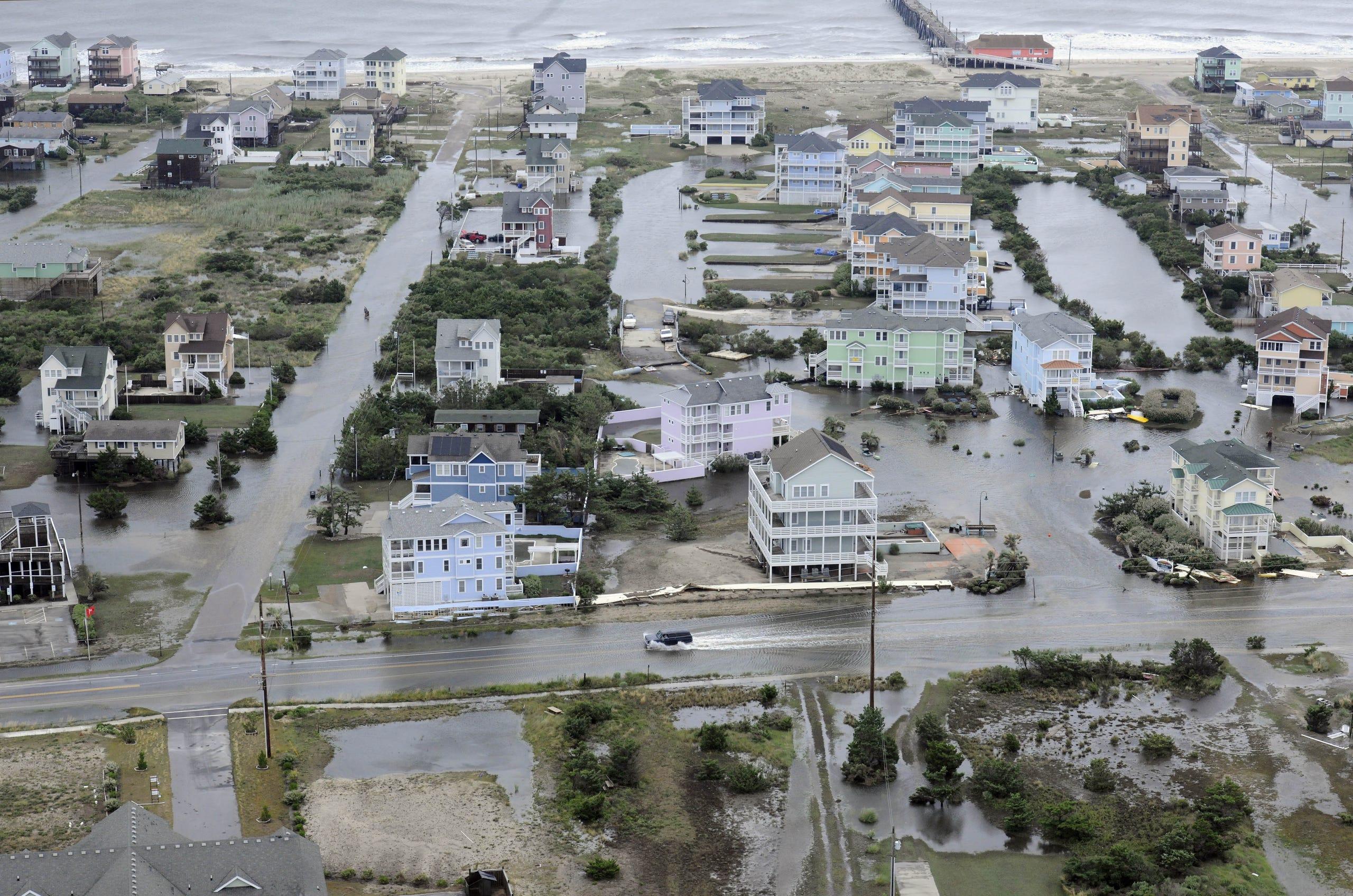 Hurricane Arthur Climbs Up East Coast