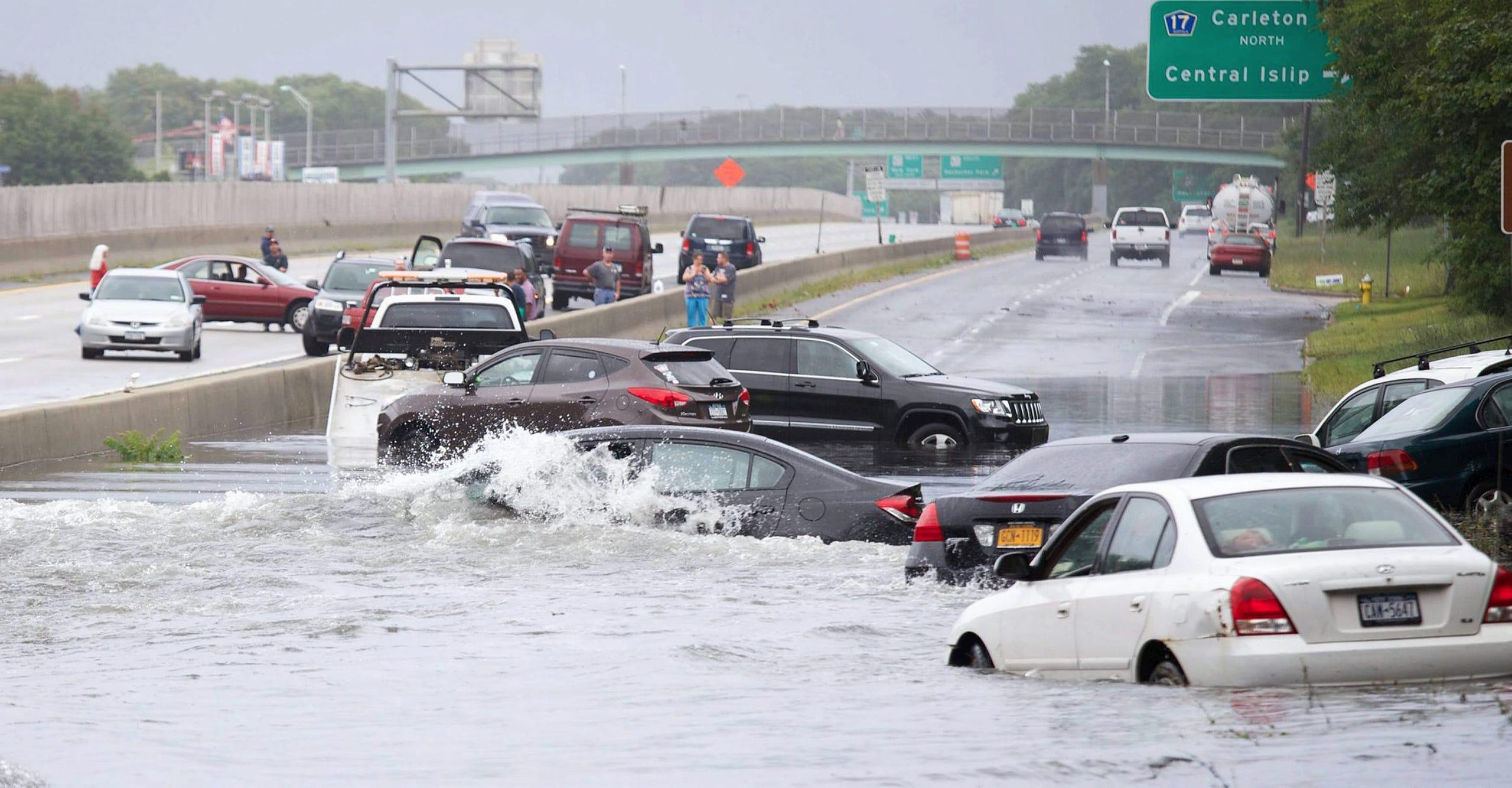 Rain causes flooding across U S