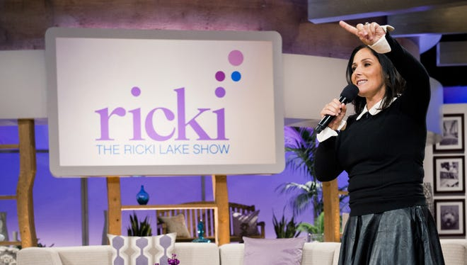 Ricki Lake tapes her daytime talk show, which will not be renewed for a second season.