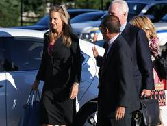 Kerry Kennedy arrives for a court appearance at the North Castle Town Court in Armonk, N.Y. on Tuesday.