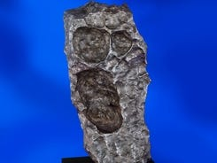 This naturally sculpted 179-pound iron meteorite will be offered at a sale of more than 125 meteorites on Oct. 14.