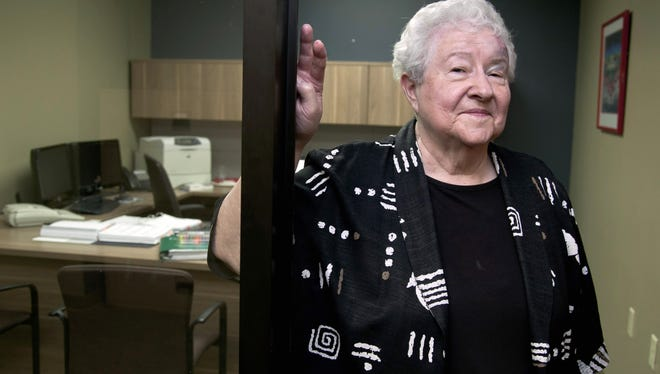 """Janice Durflinger runs computer software programs for a bank in Lincoln, Neb.  She says she still works at 76, """"because I have to."""""""