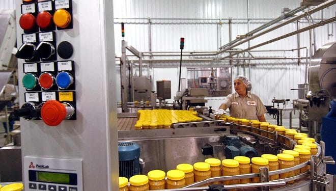 Peanut butter is produced in 2005 at Sunland Inc.'s plant in Portales, N.M.