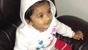 This undated photo provided by the Pennsylvania State Police shows 10-month-old Saavni Venna. Authorities are searching for Venna, who disappeared after her grandmother was fatally beaten inside a suburban Philadelphia apartment. Police issued an Amber Alert for the girl on Monday Oct. 22, 2012 following the discovery of her grandmother's body at the Marquis Apartments in King of Prussia, Pa. (AP Photo/Pennsylvania State Police)