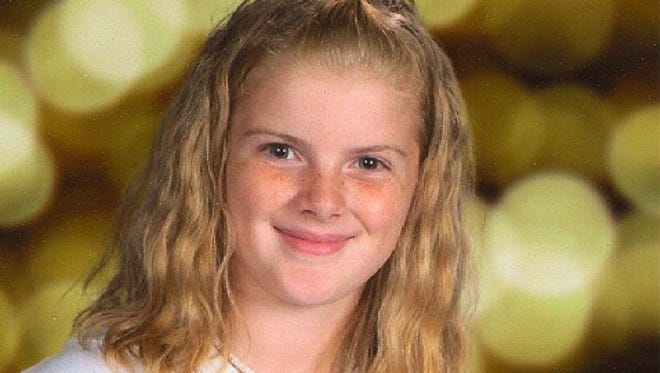 This undated photo released by the police shows missing Autumn Pasquale, 12, of Clayton, N.J..