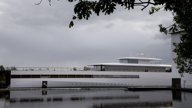A yacht commisioned by Steve Jobs.