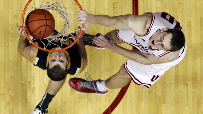 Indiana's Cody Zeller led the Hoosiers to a 87-61 victory over North Dakota State. The sophomore forward had 22 points and nine rebounds.
