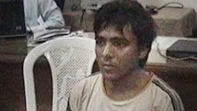Mohammed Ajmal Kasab is shown in Mumbai in this undated photo.