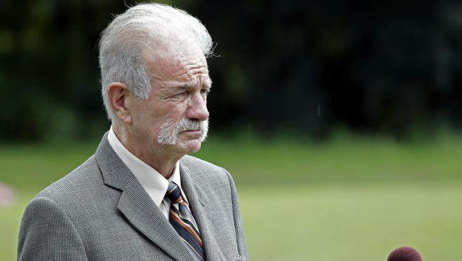 In this Wednesday, Sept. 8, 2010 file photo, Pastor Terry Jones of the Dove World Outreach Center speaks at a news conference in Gainesville, Fla.
