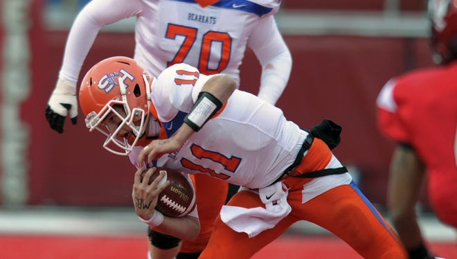 Sam Houston State quarterback Brian Bell ran for two touchdowns and threw for another in the win.
