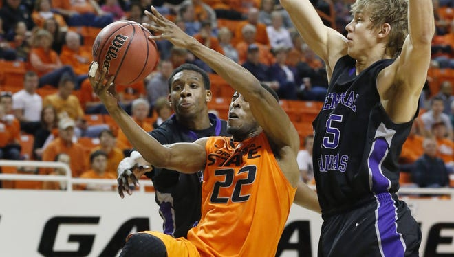 Oklahoma State guard Markel Brown had 14 points and eight rebounds in the No. 23 Cowboys' 91-63 victory over Central Arkansas.