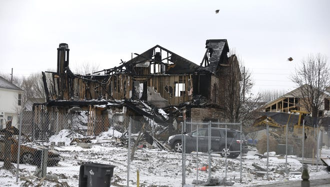A home in the Richmond Hills neighborhood that was damaged by an explosion on Nov. 1, is seen.