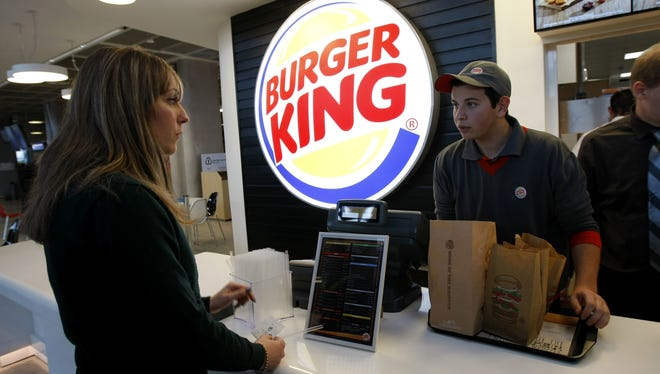A customer at the new Burger King restaurant in Marseille-Provence airport, in Marignane, France, on Saturday.