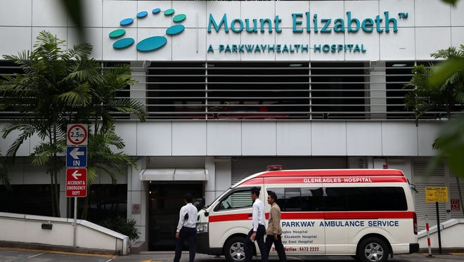 A young woman who was gang raped in India was flown to  Mount Elizabeth hospital in Singapore hospital for treatment Thursday.