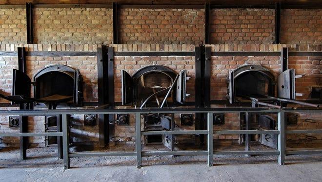 Crematorium furnaces are pictured in Lublin, Poland. Majdanek was a Nazi death camp located in eastern Poland.