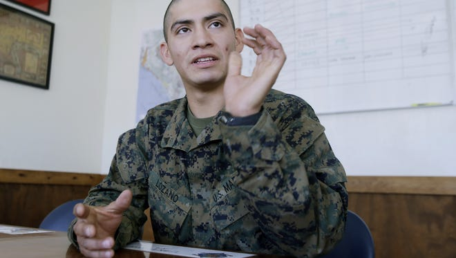 """U.S. Marine Lance Corporal Carlos Lazano talks about a special training he underwent in which Marines were taught methods to """"quiet the mind"""" and to reach an inner calm as a means to battle stress."""