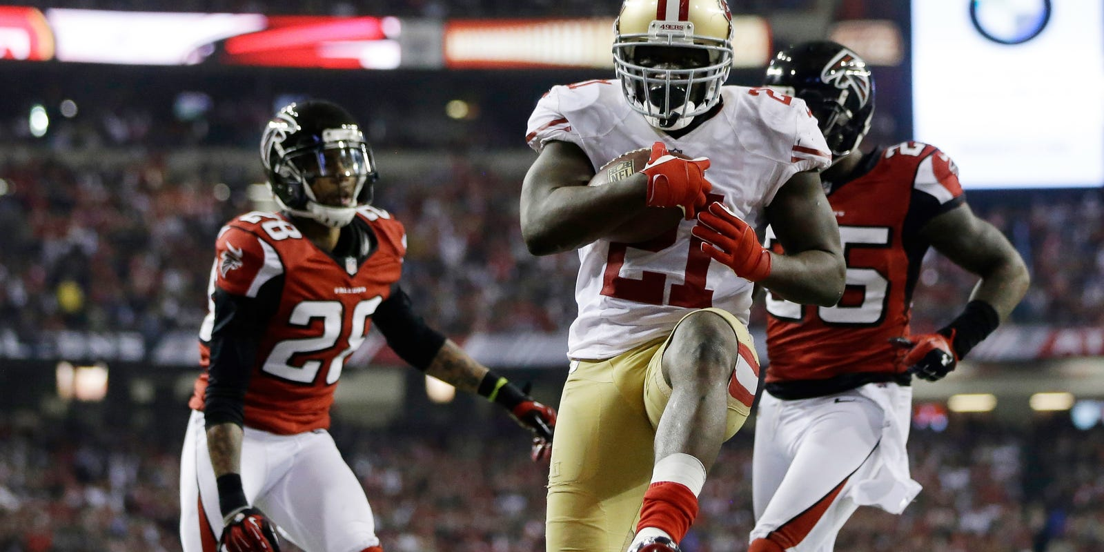 30b4a4a69d7 Frank Gore fined by NFL for socks violation in NFC championship game