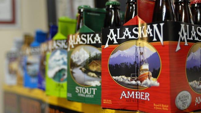 SIx-packs of beer at the Alaskan Brewing Co. in Juneau.
