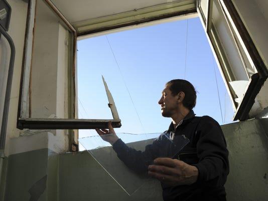 russia meteor broken window