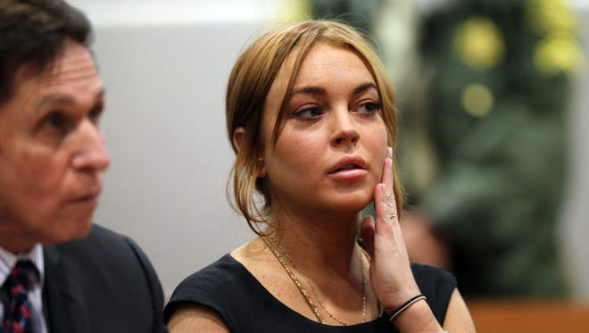 Lindsay Lohan in Los Angeles court   for a pretrial hearing in a case filed over the actress' June car crash.