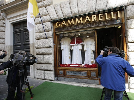 Gammarelli produces the clothes for which famous person? - Pope