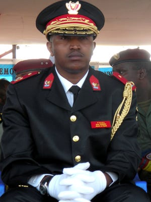 Bosco Ntaganda attends the 50th anniversary celebration of Congo's independence in Goma, eastern Congo, in 2010.